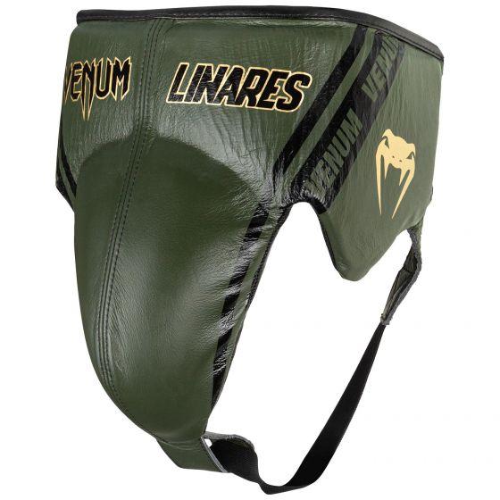 Защита паха для боксеров Venum Pro Linares Edition — на шнурках — хаки/черный/золотой