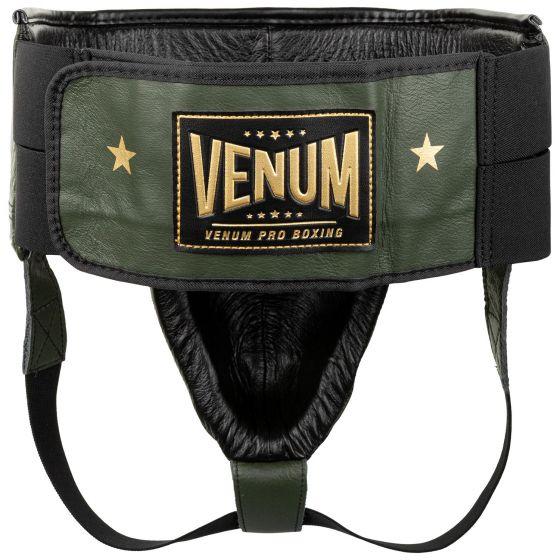 Защита паха для боксеров Venum Pro Linares Edition — с застежкой-липучкой — хаки/черный/золотой