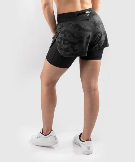 Компрессионные шорты Venum Defender 2.0 Hybrid - Черный/Черный