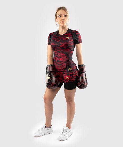 Компрессионные шорты Venum Defender 2.0 Hybrid - Черный/Красный
