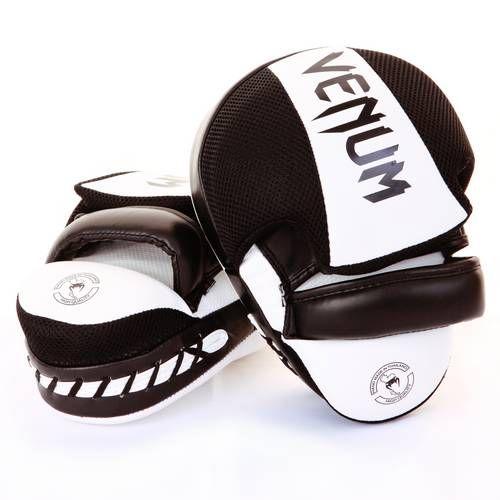 Тренерские лапы Venum Focus Mitts Cellular 2.0 - Белый/Черный (ПАРА)