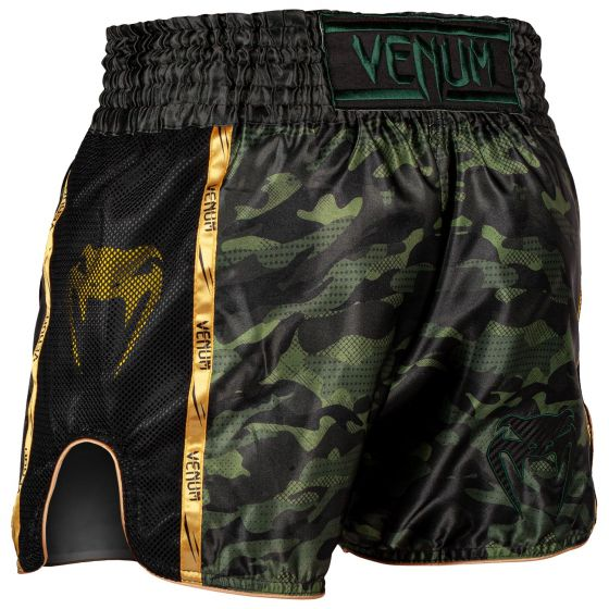 Venum Full Cam Muay Thai Shorts - Forest camo/Black