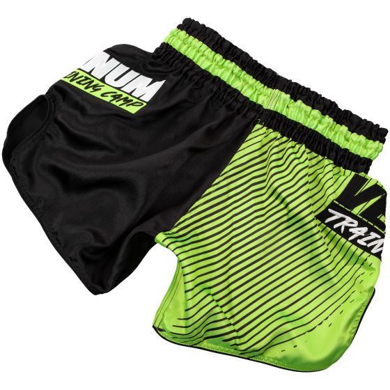 Venum Training Camp Muay Thai Shorts - Black/Neo Yellow