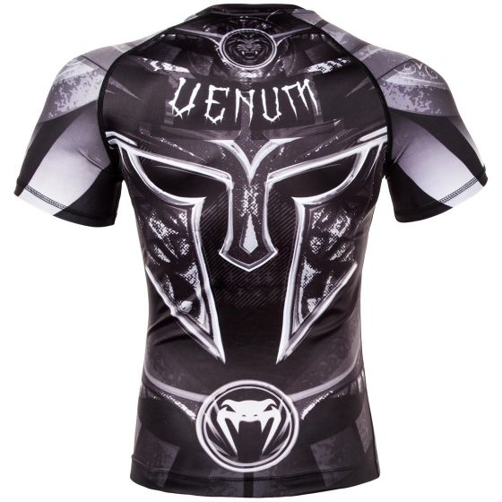 Venum Gladiator 3.0 Rashguard - Black/White - Short Sleeves