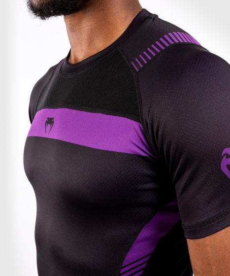 Компрессионная футболка Venum No Gi 3.0 - короткий рукав - черный/фиолетовый