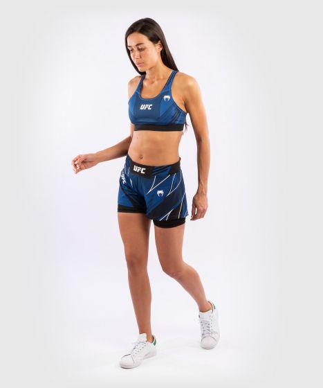 UFC 베넘 어쎈틱 파이트 나이트 여성 스포츠 브라 - 푸른