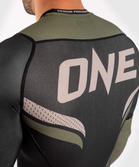 Рашгард ONE FC Impact – длинный рукав - Чёрный/хаки