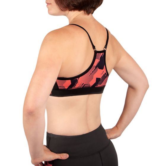 Venum Tecmo Sport Bra - For Women - Black/Coral