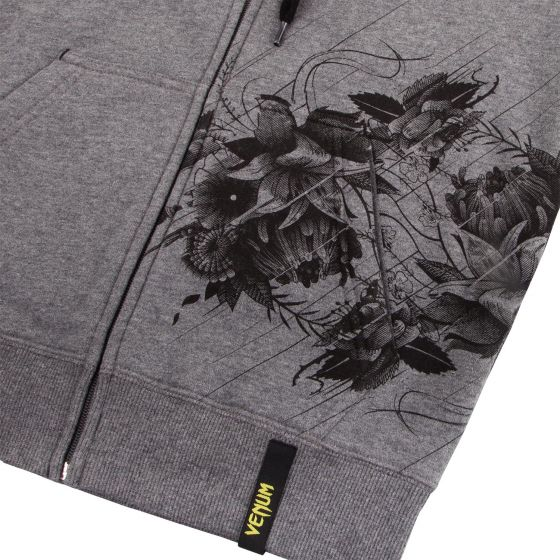 Venum Floral Hoodie - Heather Grey - For Women