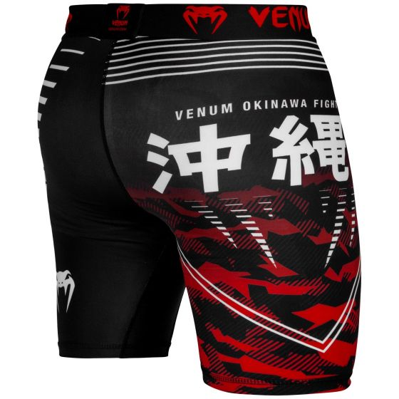 Компрессионные шорты Venum Okinawa 2.0 - Черный/Красно-белый - M