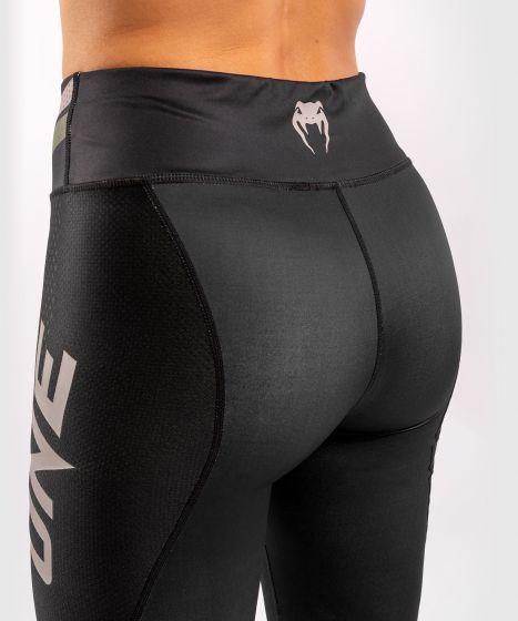 Venum ONE FC Impact Leggings - for women - Black/Khaki