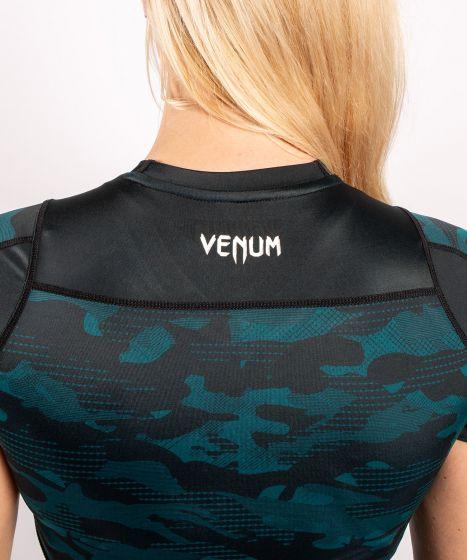 Рашгард Venum Defender 2.0 - короткий - Черный/Зеленый