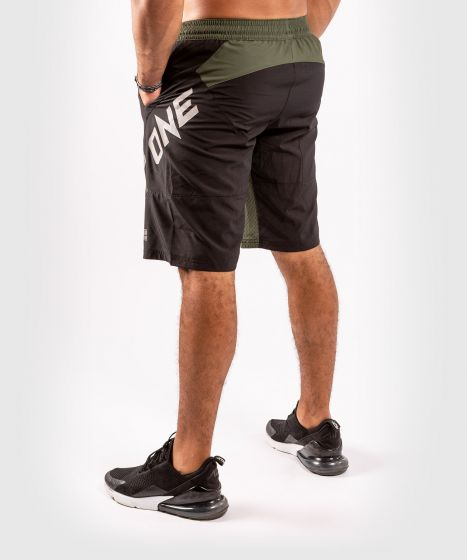 Спортивные шорты ONE FC Impact  - Чёрный/хаки