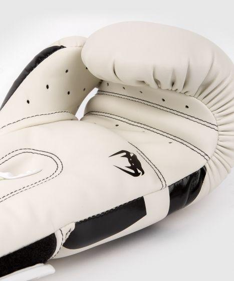 Боксерские перчатки Venum Elite - Белый/Черный