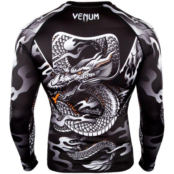 Venum Dragon's Flight Rashguard - Long Sleeves - Black/White