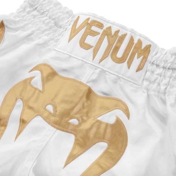 Venum Bangkok Inferno Muay Thai Shorts - White/Gold