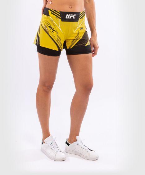 UFC 베넘 어쎈틱 파이트 나이트 여성 쇼츠 - 숏 핏 - 노랑