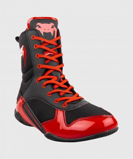 Venum Elite Boxing Shoes - Black/Red