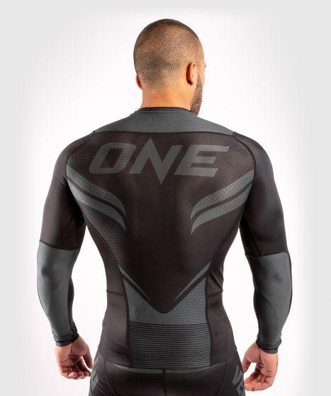 Рашгард ONE FC Impact – длинный рукав - Черный/Черный