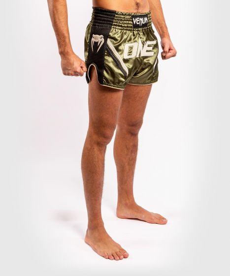Venum ONE FC Impact Muay Thai Shorts - Black/Khaki
