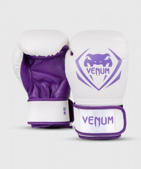 Venum Contender Boxing Gloves - White/Purple