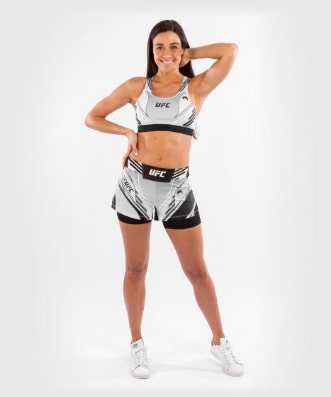 UFC 베넘 어쎈틱 파이트 나이트 여성 스포츠 브라 - 하얀