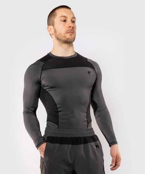 Venum G-Fit Rashguard - Long Sleeves - Grey/Black