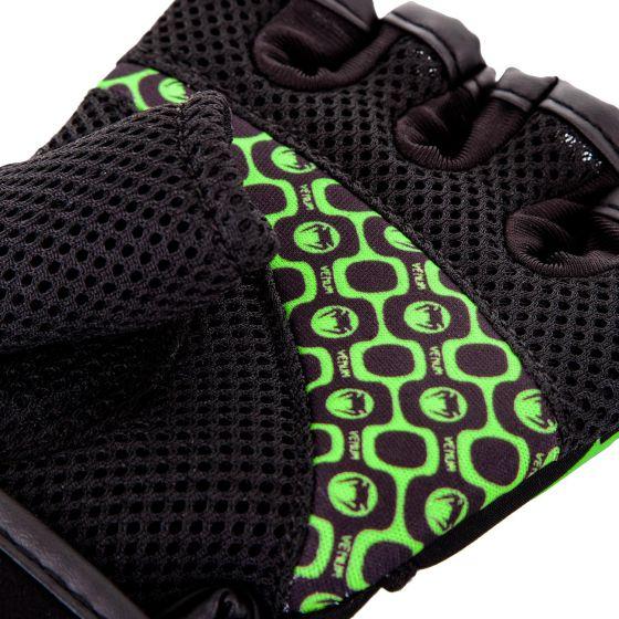 Venum Aero Body Fitness Gloves - Black/Neo Yellow