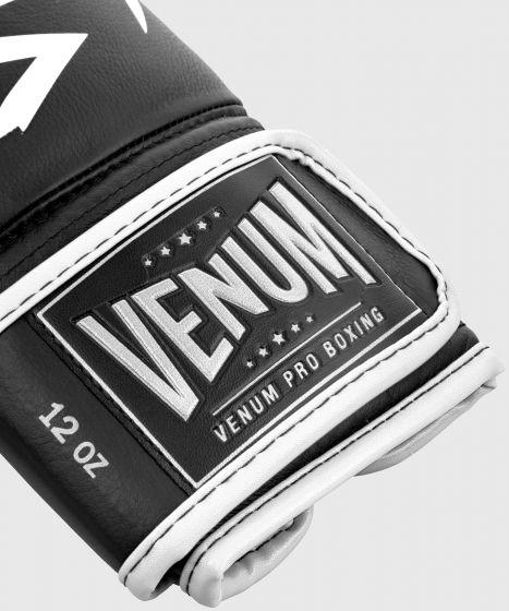 Venum Hammer Pro Boxing Gloves Velcro - Black/White