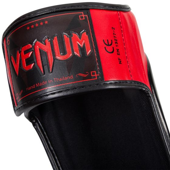 Venum Predator Standup Shin Guards - Black/Red