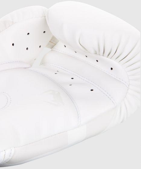 Venum Elite Boxing Gloves - White/White