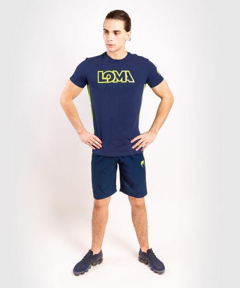 Футболка Venum Origins  Loma Edition - Синий/Желтый