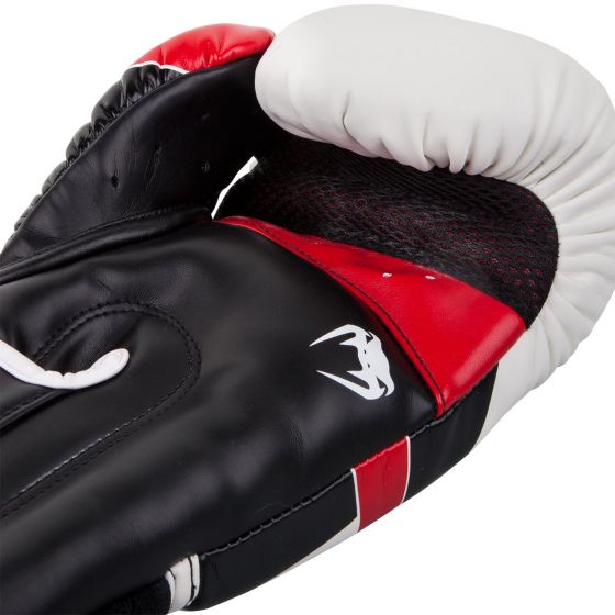 Venum Elite Boxing Gloves - White/Black/Red
