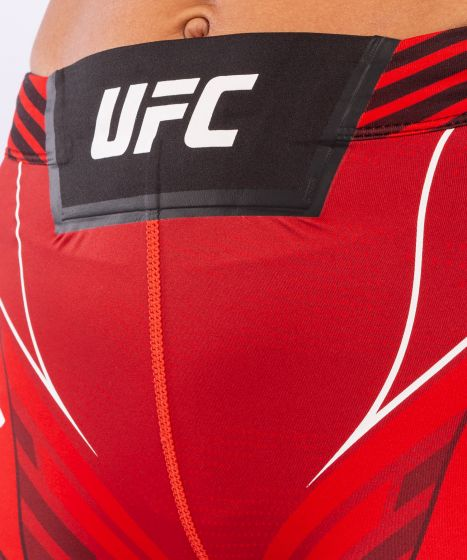 UFC Venum Authentic Fight Night Women's Vale Tudo Shorts - Short Fit - Red