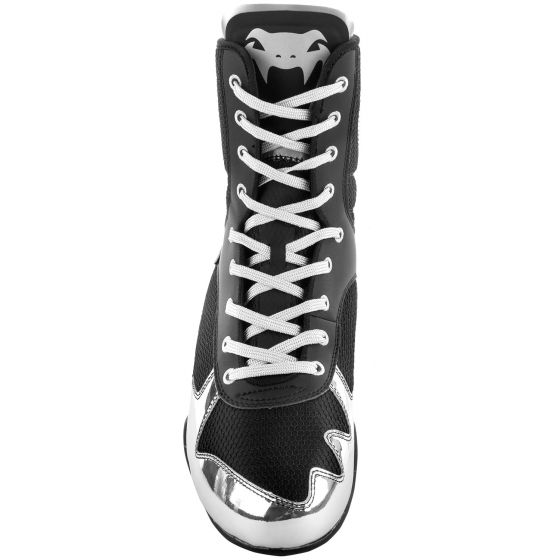 Venum Elite Boxing Shoes - Black/Silver