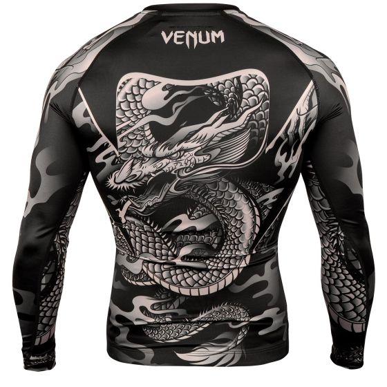Рашгард Venum Dragon's Flight – Длинный рукав - Черный/Песочный