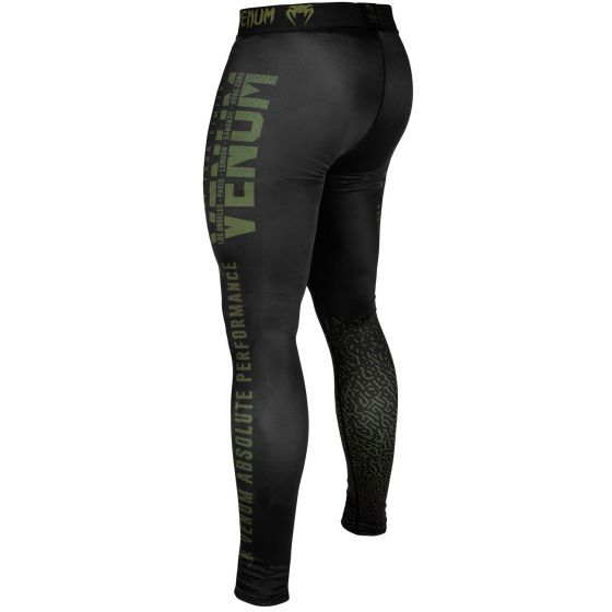 Компрессионные штаны Venum Signature - Хаки/Черный