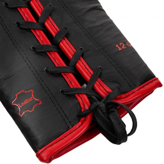 Venum Shield Pro Boxing Gloves - With Laces  - Black/Red