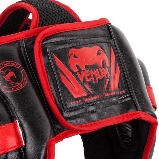 Venum Challenger Open Face Headgear - Black/Red