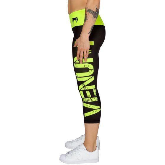 Venum Power Cropped Leggings - Black/Neo Yellow
