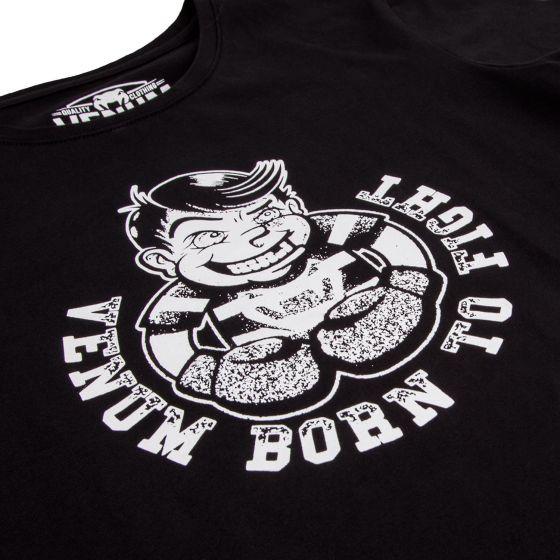 Camiseta  Venum Nacido para Luchar Contra Niños - negro / blanco