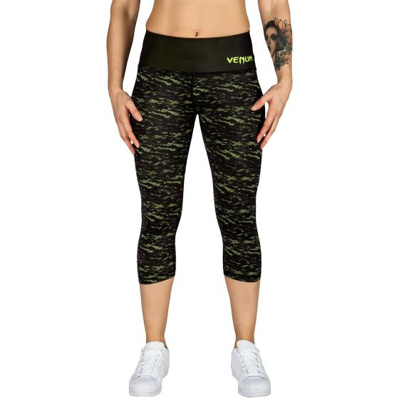 Venum Camoline Leggings Crops - Black/Neo Yellow