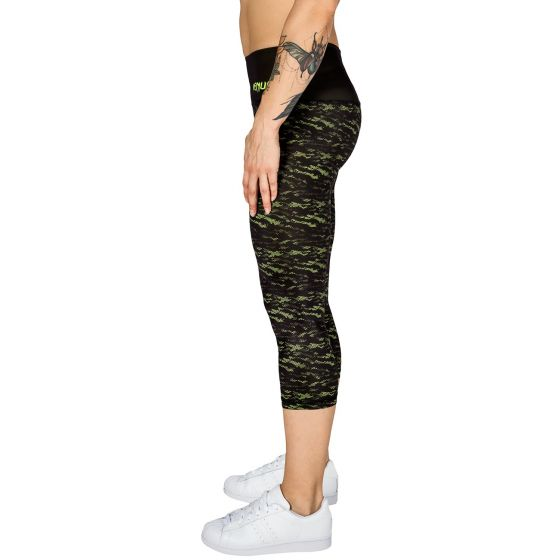 Venum Camoline Cropped Leggings  - Black/Neo Yellow