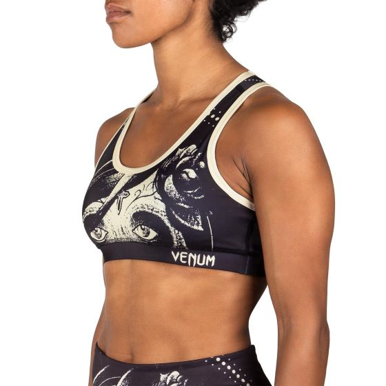 Venum Santa Muerte Sports Bra - Black/Yellow