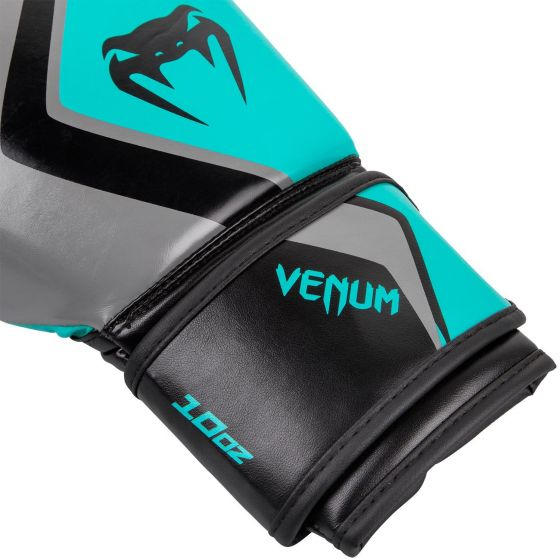 Venum Boxing Gloves Contender 2.0 - Grey/Turquoise-Black