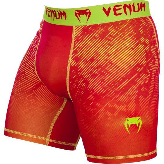 Pantalones Cortos de Compresión Venum Fusion - Naranja/Amarillo