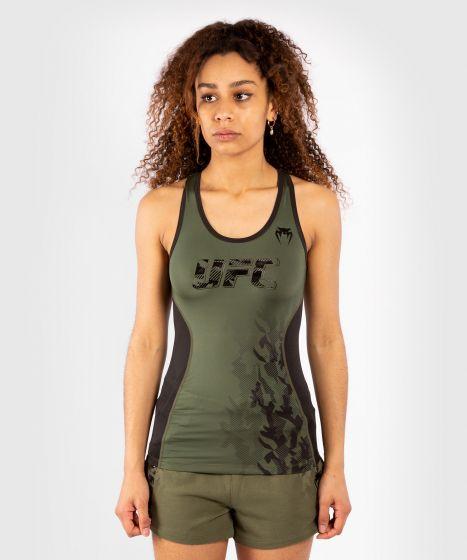 UFC 베넘 어쎈틱 파이트 위크 여성 퍼포먼스 탱크탑 - 카키색 옷감