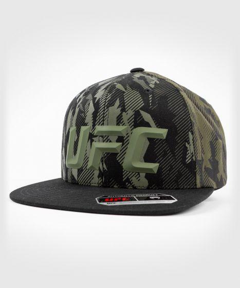 UFC 베넘 어쎈틱 파이트 위크 유니섹스 모자 - 카키색 옷감