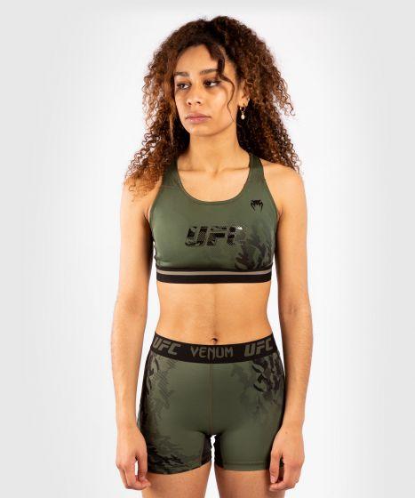 UFC 베넘 어쎈틱 파이트 위크 여성 SPORT 브라 - 카키색 옷감