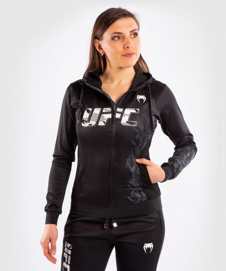 UFC 베넘 어쎈틱 파이트 위크 여성 지퍼 후드티 - 검정